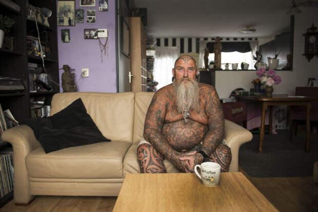 Оптимистичный фотопроект Ингрид Мейхеринг про модных старичков статуировками