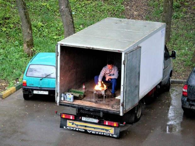Место для мангала. | Фото: Убойно.ру.