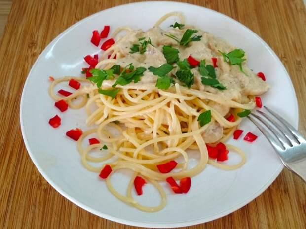 Сливочно - грибной соус к спагетти Соус, Грибы, Сливки, Рецепт, Длиннопост, Кулинария