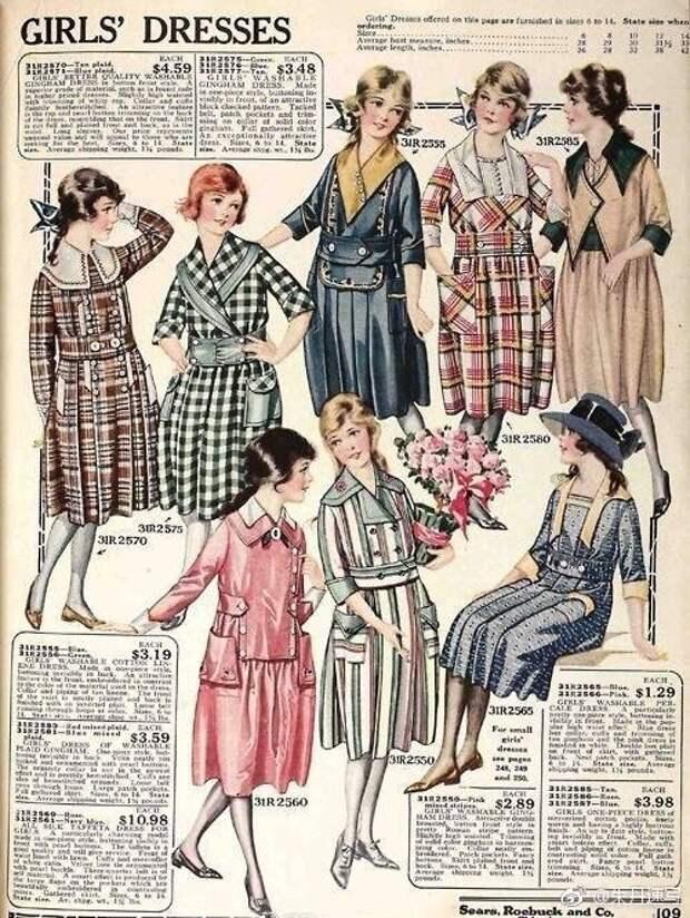 1920 детская мода и подростковая одежда модели