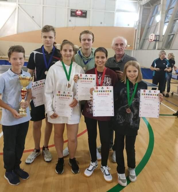 Команда из Строгина стала победителем окружной Спартакиады по теннису