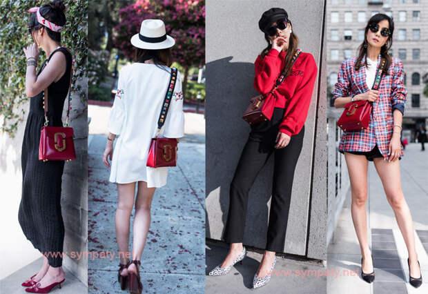 C какой одеждой носить красную сумку в 2020 году