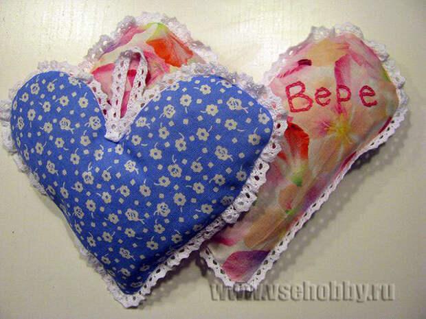 грелки с вишневыми и черешневыми косточками в форме сердечек
