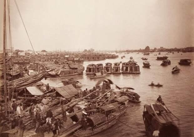 Река Чжуцзян 1880 г.