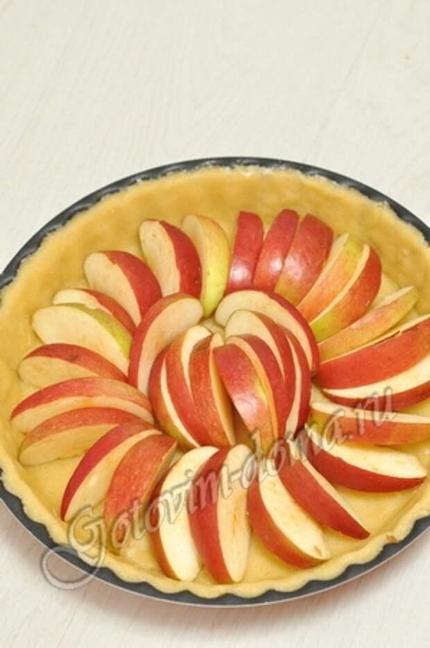 Яблочный пирог со сливками фото 5