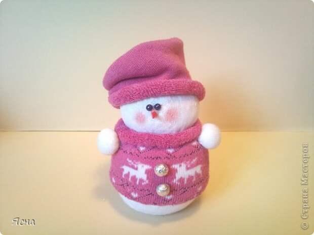 Мастер-класс Поделка изделие Новый год Шитьё И снова снеговики из носков + мои дополнения Носки фото 11