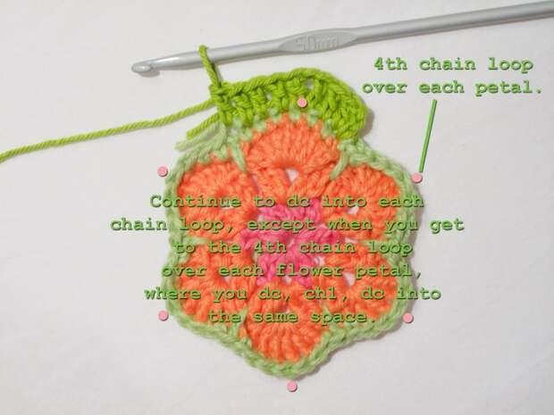 Цветочный фрагмент крючком АФРИКАНСКИЙ ЦВЕТОК для вязания игрушек (62) (700x525, 210Kb)