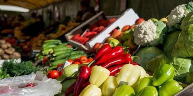 На ярмарках можно приобрести свежие продукты из регионов РФ / Фото: mos.ru