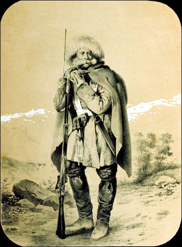В. Тимм. Русский солдат на Кавказе.