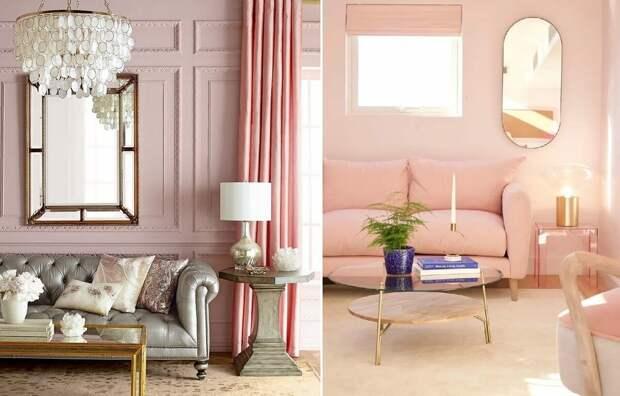 Пудровый цвет в интерьере: особенности сочетания оттенков