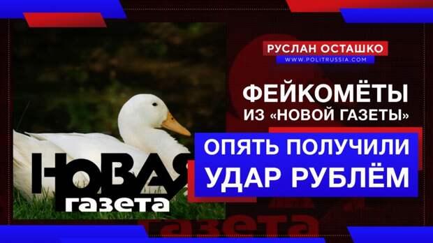 Фейкомёты из «Новой газеты» опять получили удар рублём