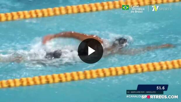 Gabrielle Roncatto vence, mas não consegue o índice olímpico nos 400m Livre Feminino - Dia 2 do Pré-Olímpico de Natação (20/04/2021)