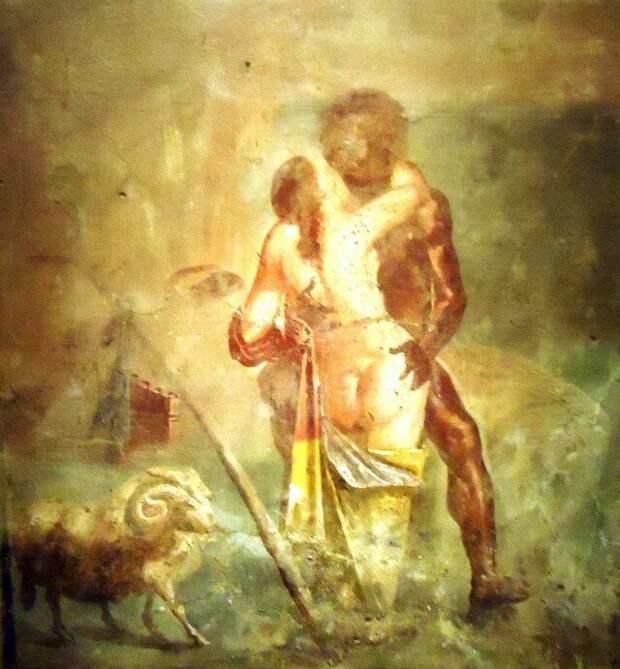 Замечательная фреска из Помпей. Прямого отношения к теме не имеет, но мне весьма понравилась. археология, история, расследование, тайны