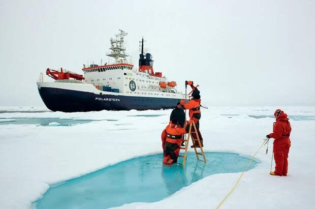 Измерение толщины льда в Ледовитом океане