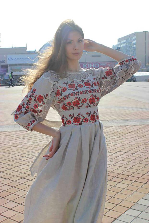 платья с ажурной вышивкой