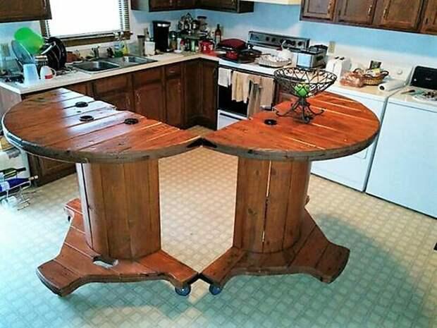 Мебель из катушек