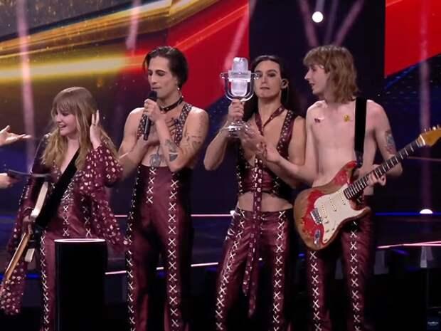 Победа на «Евровидении» досталась рокерам из Италии