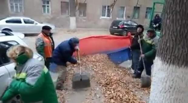 В Волгограде полиция проводит проверку по факту надругательства над флагом РФ
