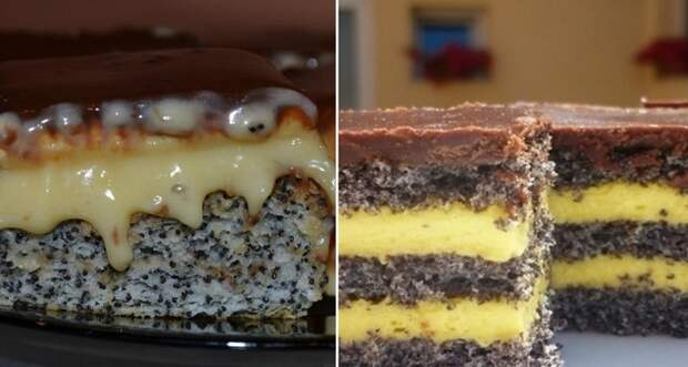 торт с маком и изюмом