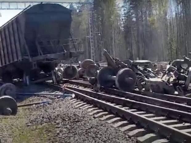 Грузовые вагоны сошли с рельсов в Самарской области