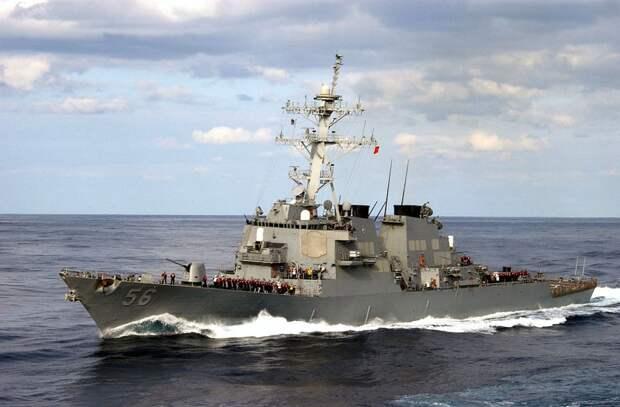"""Американский эсминец """"Лабун"""" начал переход из Черного моря в Средиземное"""