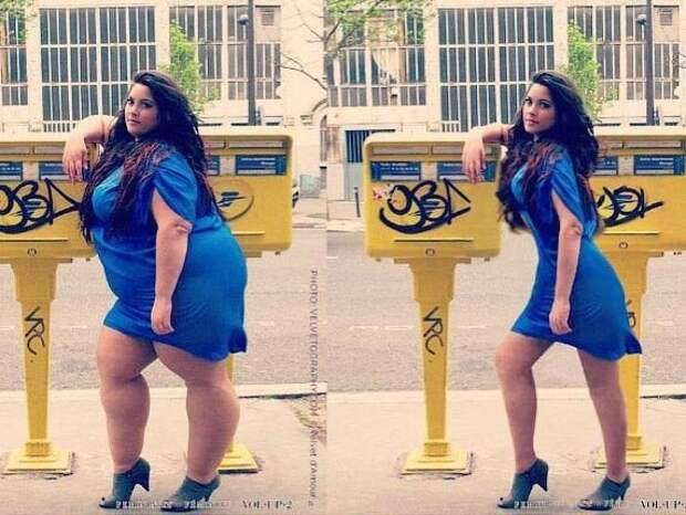 Цифровая липосакция: хулиганы фотошопа делают из полных женщин худых