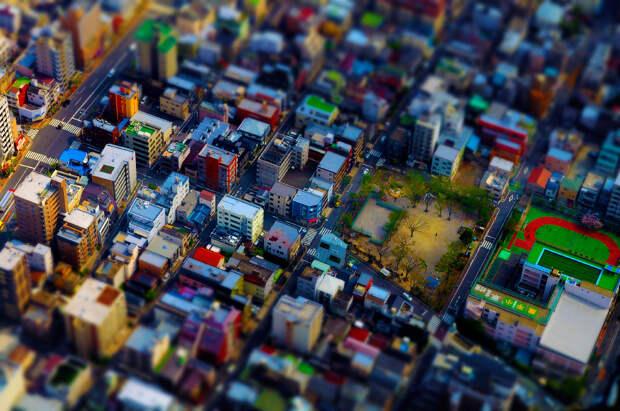 Tilt Shift фотография: миниатюрный мир