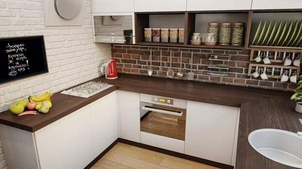 Отличное дизайнерское решение обустроить кухню в коричневых тонах, что впечатлит.