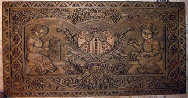Пример городецкого резного орнамента. /Фото:ornamentum.biz