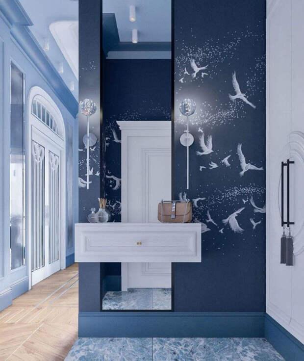 Воздушный интерьер небольшой прихожей. | Фото: Дизайн комнат.