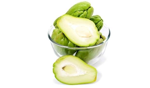 7. Чайо́т съедо́бный (мексиканский огурец) фрукты, экзотические фрукты