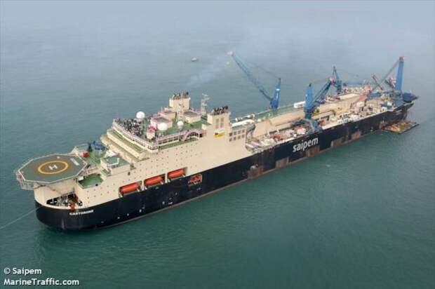 Трубоукладчик «Балтийского газопровода» прибыл наБалтику