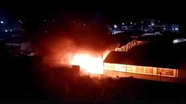 Крупный рынок сгорел вРостовской области 7июня
