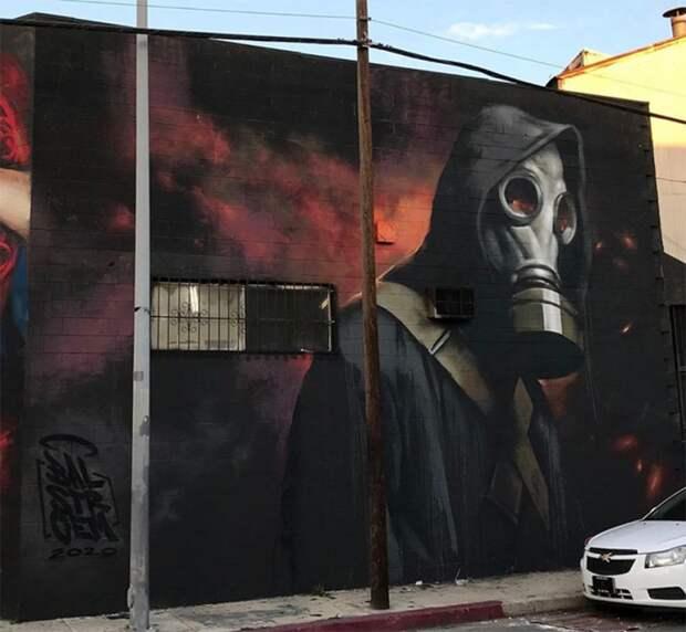 Противокоронавирусное граффити