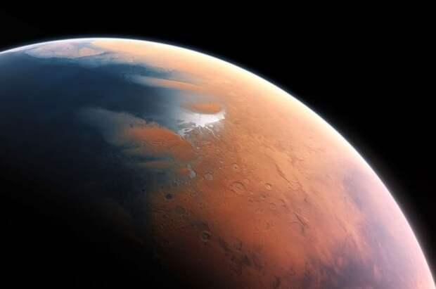На Марсе найдены следы недавних извержений вулканов