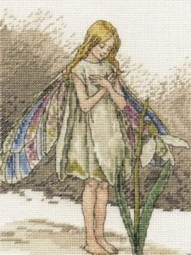 Волшебство лесных фей в вышивке крестом