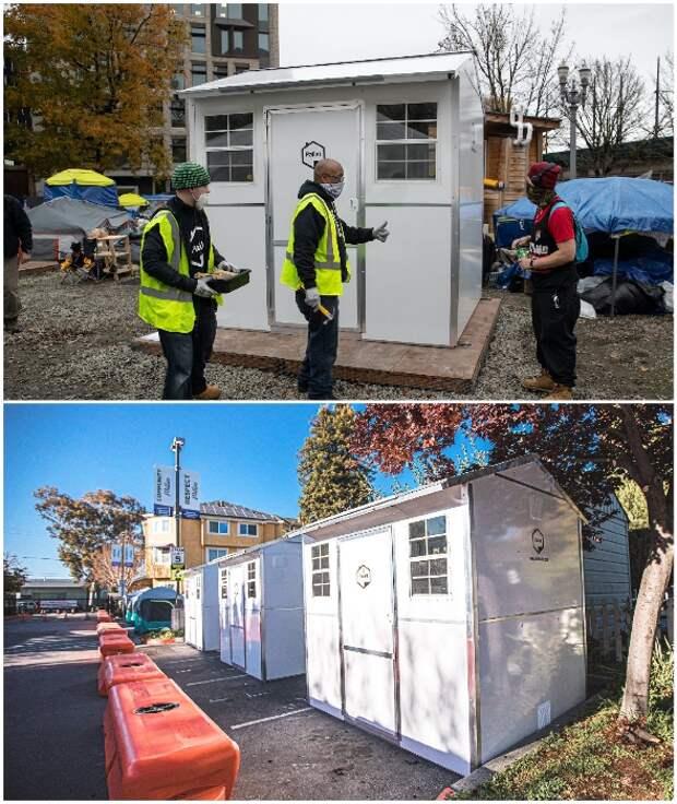 Домики для бездомных, которые меньше бытовки, а собираются за полчаса