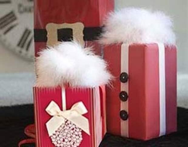 Бисер и пуговицы для декорирования подарочной упаковки
