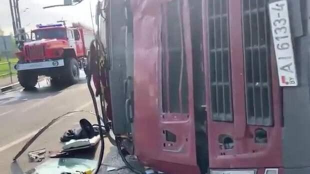 Названа причина ДТП с 13 пострадавшими под Смоленском