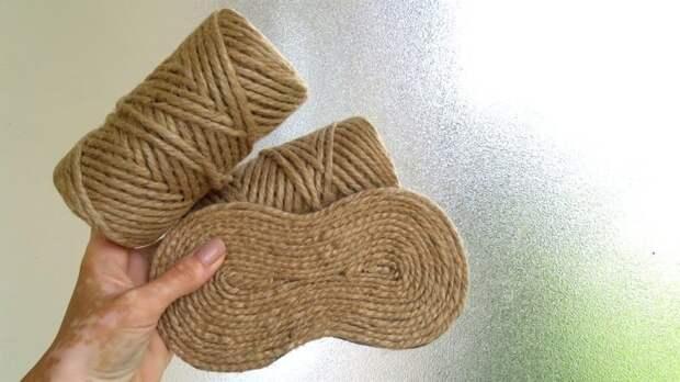 Прекрасной поделки из джута, которая украсить любой интерьер