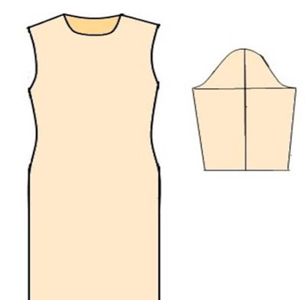 Модели платьев с выкройками и схемами из трикотажа