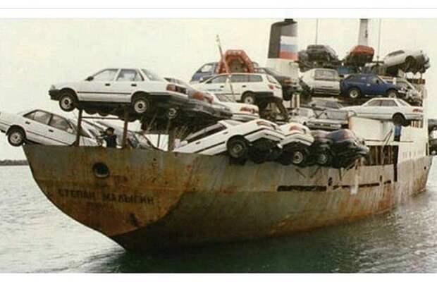 Японские авто отправляются в РФ 90-е