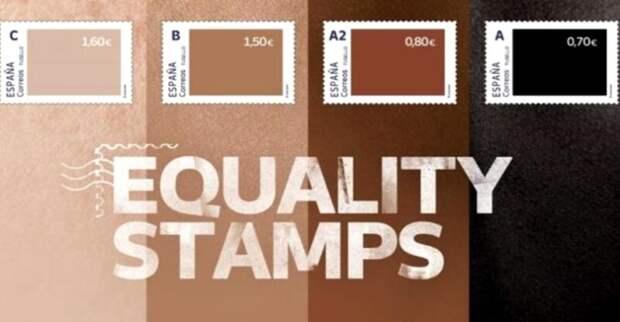 Испанские почтовые «Марки равенства» наглядно показывают отношение к темнокожим