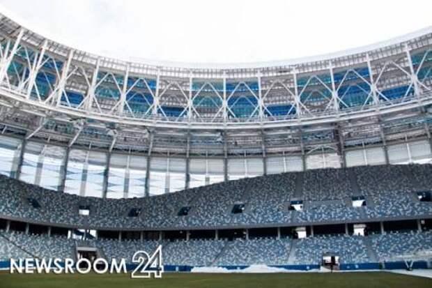 Зрителей посадили на грязные сидения стадиона «Нижний Новгород»