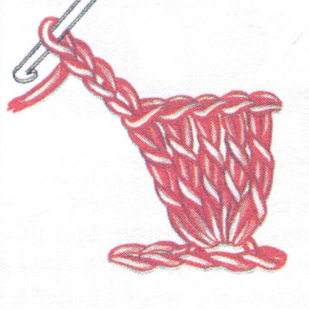 Пико (пк) со столбиком без накида (фото 1)