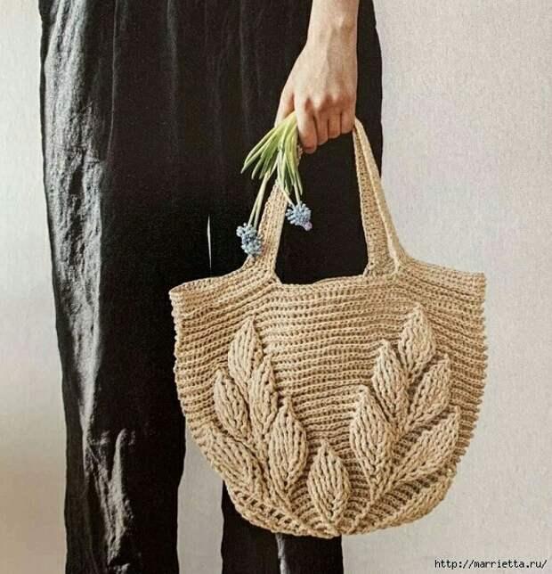 Вязаная пляжная сумка (diy)
