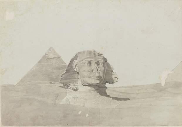 Пирамиды Гизы. Вид сфинкса и пирамиды Хефрена