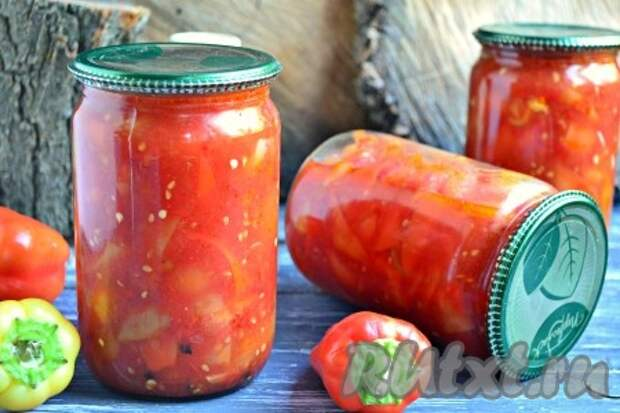 """Салат """"Лечо"""" из помидоров и перцев на зиму"""