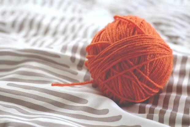 Пряжа, Шар, Вязание, Шерсть, Нить, Оранжевая Пряжа