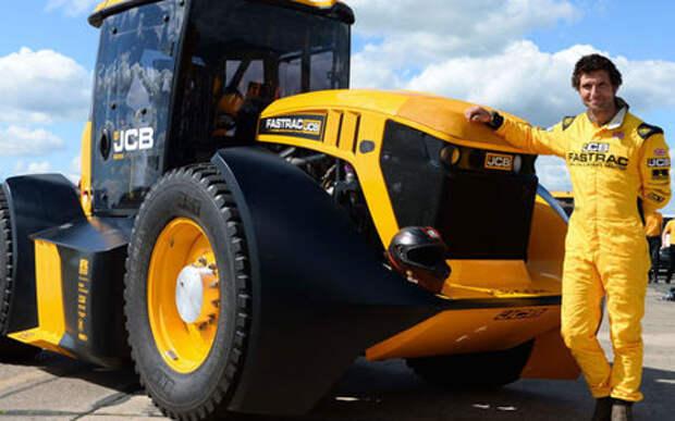 Безумцы разогнали трактор до 167 км/ч